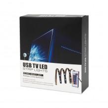 Αδιάβροχη Ταινία LED RGB 2x50cm με Τηλεχειριστήριο SMD5050 USB